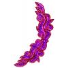 Motif Sequin/beaded 34.6x13.5cm Hot Pink